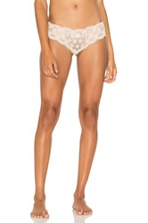 Eberjey India Lace Low Rise Thong Beige