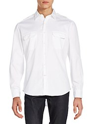 Ralph Lauren Black Label Twill Military Rover Sportshirt White