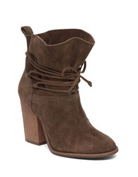 Jessica Simpson Satu Suede Lace Up Ankle Boots Dark Brown