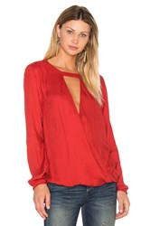 Velvet By Graham And Spencer Mylinh Blouse Red