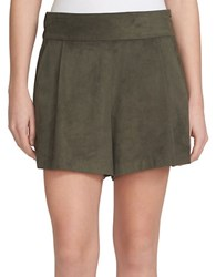 1.State Faux Suede Shorts Olive Earth
