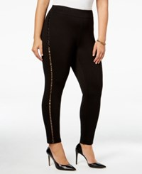 Mblm By Tess Holliday Trendy Plus Size Cutout Leggings Black