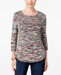 Ny Collection Petite Space Dyed Sweater Angel