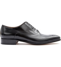 Stemar Chisel Punch Toe Oxford Shoes Black