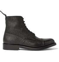 Grenson Pebble Grain Leather Boots Black