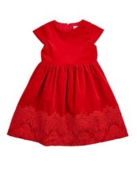 Florence Eiseman Lace Trim A Line Dress Red