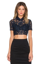 Lover Halo Crop Top Navy