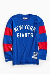 Mitchell And Ness Nfl New York Giants Field Goal Long Sleeve Tee Navy
