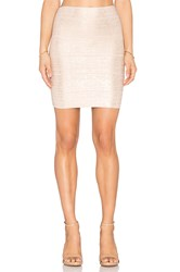 Bcbgmaxazria Josie Foil Mini Skirt Metallic Gold