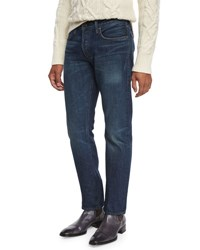 Tom Ford Straight Fit Selvedge Harrison Wash Denim Jeans Blue