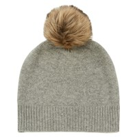 Warehouse Cashmere Hat Light Grey
