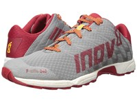 Inov 8 F Lite 240 Grey Dark Red White Men's Running Shoes Gray