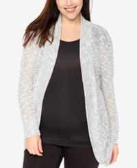 Motherhood Maternity Plus Size Open Front Cardigan Heathered Grey