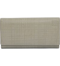 Loewe Continental Leather Wallet Stone