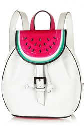 Sophia Webster Ziggy Watermelon Leather Backpack White