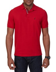 Nautica Deck Knit Polo Shirt Nautical Red