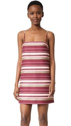 Zimmermann Karmic Jacquard Shift Dress Stripe