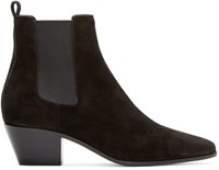 Saint Laurent Black Suede Wyatt Rock Boots