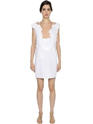 Gianluca Capannolo Maxi Sequins Embellished Cady Mini Dress