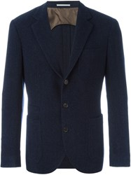 Brunello Cucinelli Patched Pockets Blazer Blue