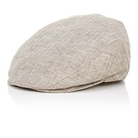 Barneys New York Men's Herringbone Newsboy Cap Nude