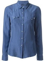 Jacob Cohen Flap Pockets Shirt Blue
