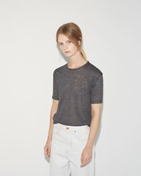 Isabel Marant Madjo Linen Tee Shirt Anthracite