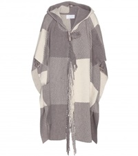 Chloe Wool And Cashmere Blend Cape Grey