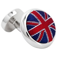 Thomas Pink Union Jack Cufflinks Navy Red