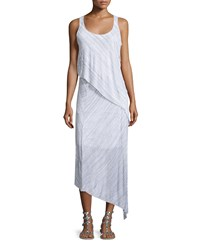 Splendid Space Dye Sleeveless Bias Maxi Dress Heather Gray