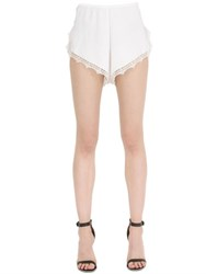 Ermanno Scervino Cady And Silk Lace Shorts