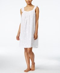Charter Club Embroidered Nightgown Only At Macy's Bright White