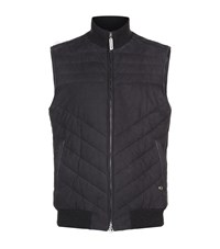 Stefano Ricci Quilted Suede Gilet Male Black