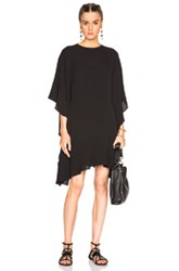 Valentino Flutter Sleeve Dress In Black