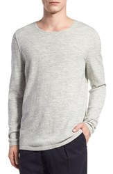 Vince Men's Wool And Cashmere Sweater Off White Heather Steel