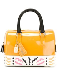 Furla 'Candy' Tote Yellow And Orange