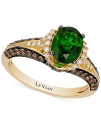Le Vian Chocolatier Emerald 1 1 10 Ct. T.W. And Diamond 2 3 Ct. T.W. Ring In 14K Gold