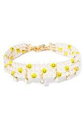 Venessa Arizaga Women's Smile Away Faux Pearl Choker