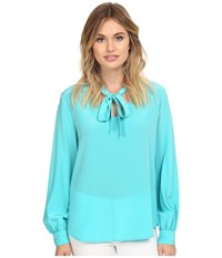 Trina Turk Dawson Top Azure Women's Clothing Blue