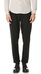 Scotch And Soda Pleated Wool Cuff Pants Black