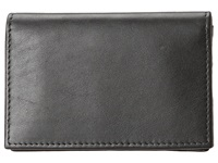 Bosca Nappa Vitello Collection Gusseted Card Case Black Leather Wallet