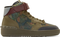 Valentino Green Butterfly Camo High Top Sneakers