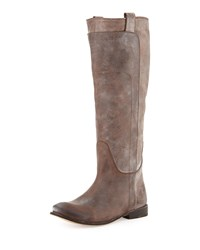 Frye Paige Tall Leather Riding Boot Dark Brown Women's