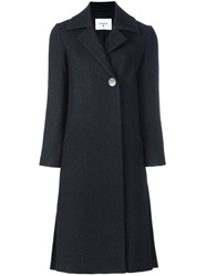 Dondup Long Button Coat Black