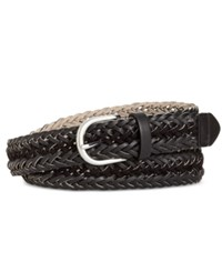 Styleandco. Style Co. Faux Suede Inset Woven Belt Only At Macy's Black