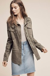 Anthropologie Mcguire Military Jacket Green