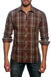 Jared Lang Long Sleeve Checked Semi Fitted Shirt Multi