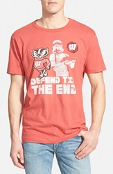 Tailgate 'Wisconsin Defend Til The End' Graphic T Shirt Faded Red