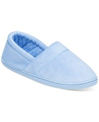 Charter Club Microvelour Memory Foam Slippers Only At Macy's Ice Blue