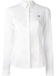 Versace Jeans Logo Plaque Shirt White